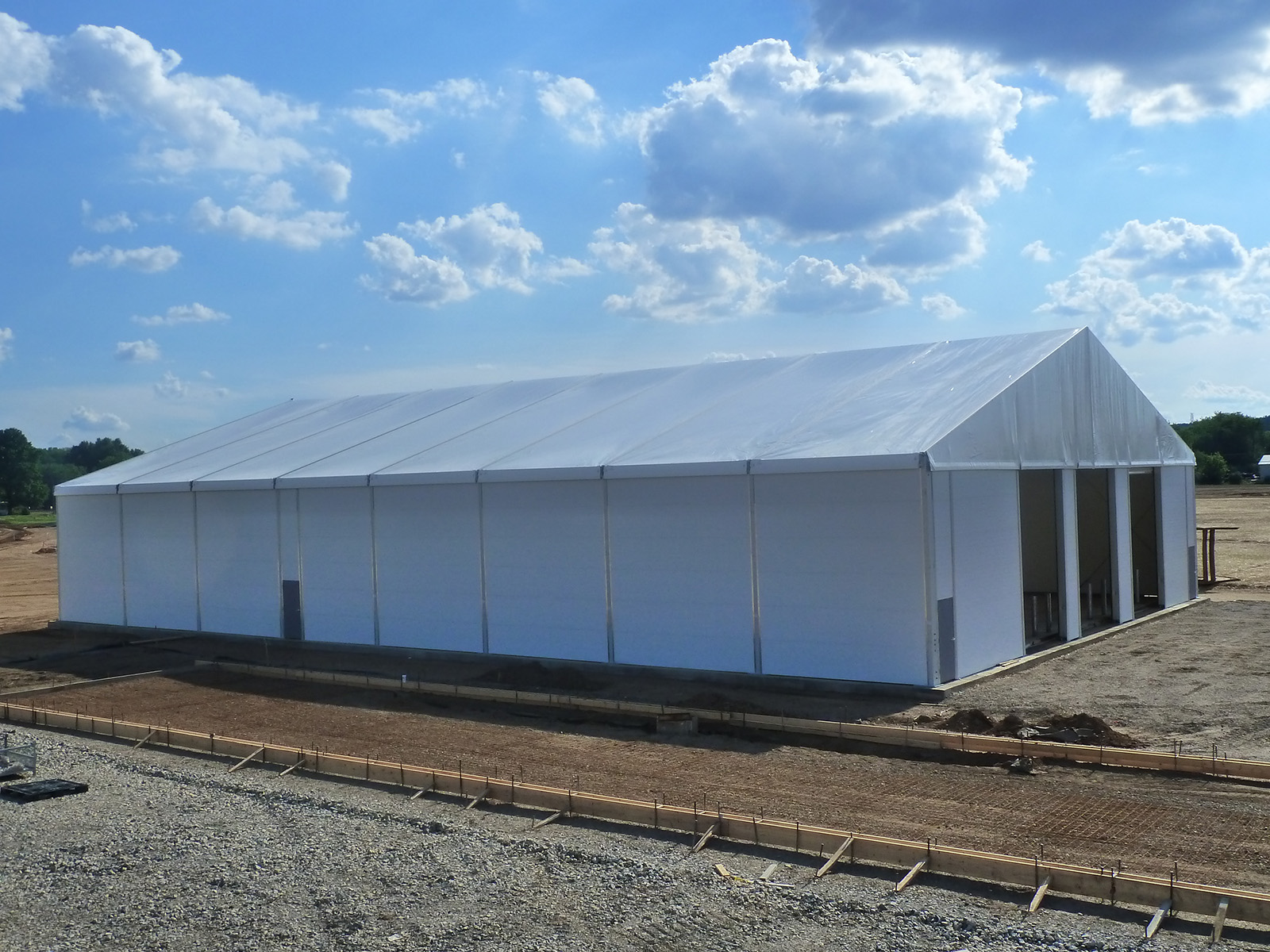 Advantages of Temporary Warehouse Structures, On-site Storage