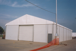 Temporary Warehouse Climate Controlled Lunch Tent