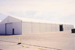 Outdoor Storage in Lancaster, CA | Temporary Warehouse Structures