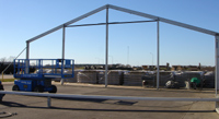 Frame Setup in Sealy, TX | Temporary Warehouse Structures